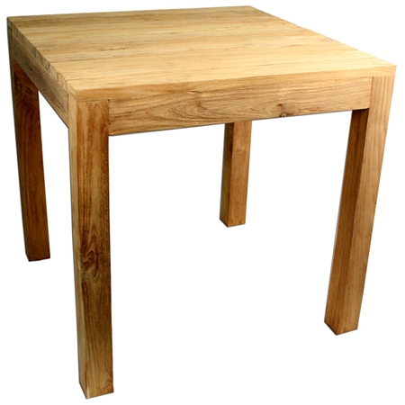 Rustic Square Outdoor Dining Table Teak Wood DCG Stores