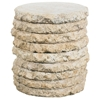 Stone Stack Outdoor Side Table - Round - PAD-OL-SST06