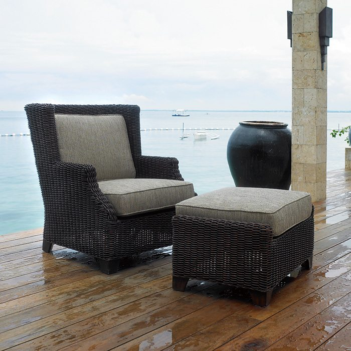 terrace outdoor lounge chair cushions all weather wicker dcg stores. Black Bedroom Furniture Sets. Home Design Ideas