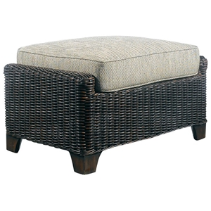Terrace Outdoor Ottoman - Cushion, All-Weather Wicker