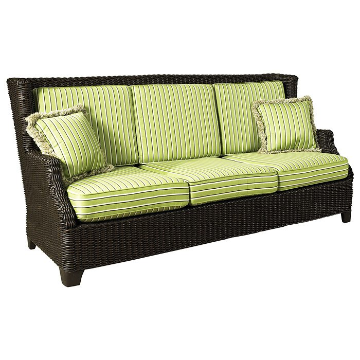 Terrace Outdoor Sofa - Cushions, All-Weather Wicker - PAD-OL-TER04R
