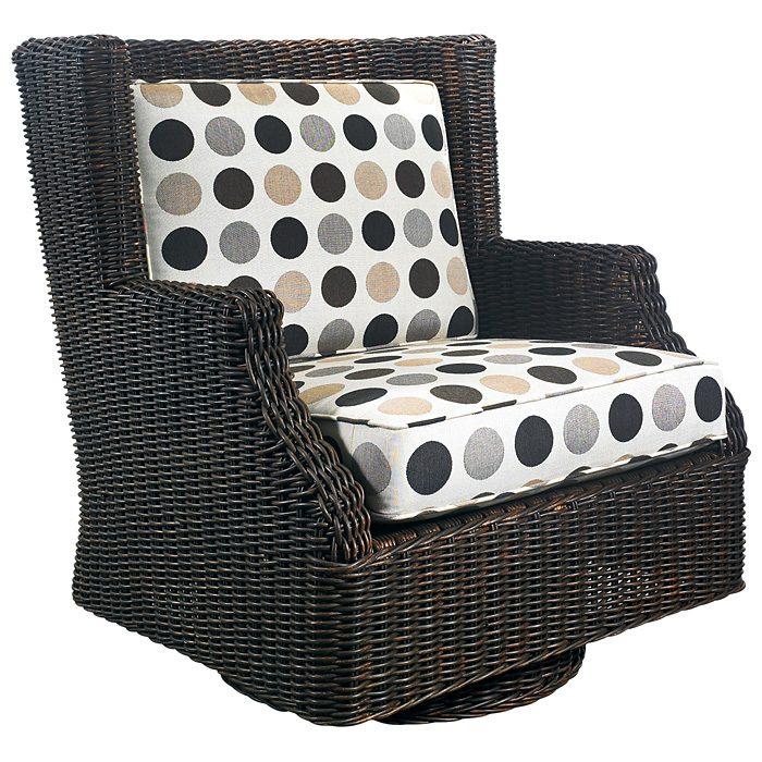 Terrace Outdoor Swivel Rocker   Cushions, All Weather Wicker    PAD OL TER28R ...