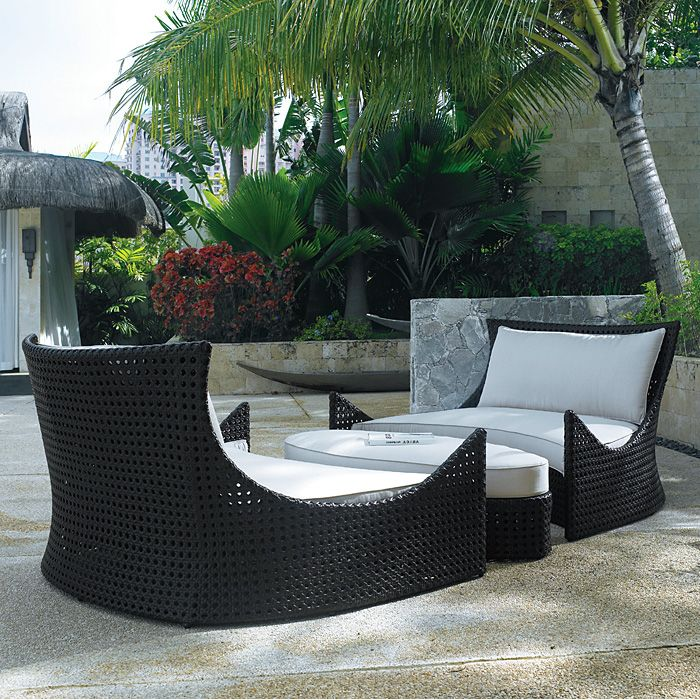 Tides Outdoor Oval Ottoman - Cushion, Octagonal Weave - PAD-OL-TID02