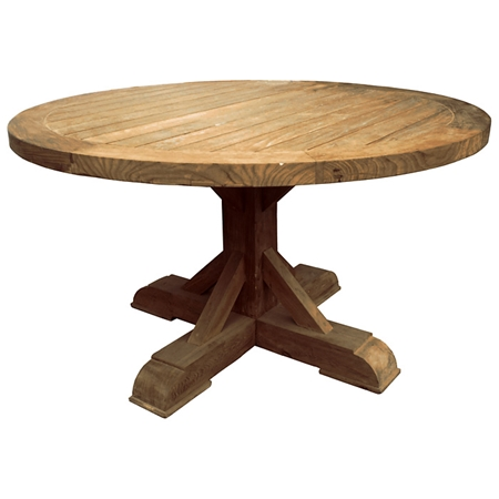 Xena Reclaimed Teak Wood Dining Table Round DCG Stores