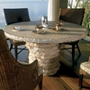"Stone Stack 48"" Round Dining Table - PAD-OL-SSTTOP-48-OL-SST13-SMBASE"