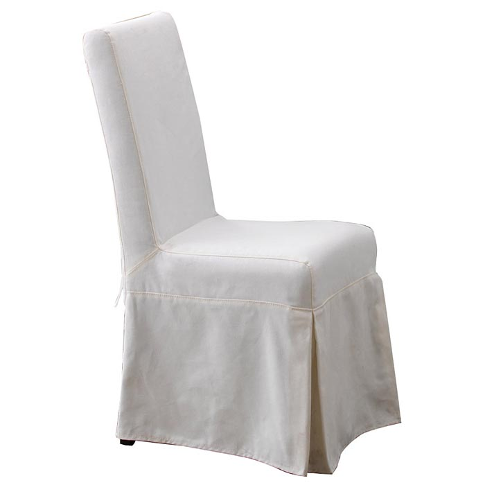 Pacific beach dining chair sun bleached white slipcover