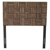 Plaid Low Headboard - Abaca Twist