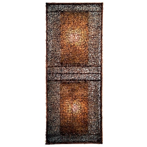 Wicker Wall Lamp - Dark Brown, Large