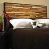 Reclaimed Teak Wood Headboard - Natural, Dark Stained Frame - PAD-RCL19