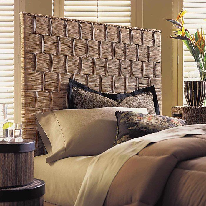 Rattan Weave Queen Size Headboard - Natural Finish - PAD-RWHB01-Q