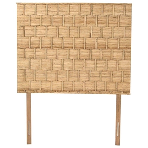 Rattan Weave Twin Size Headboard - Natural Finish