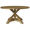Salvaged Wood Round Dining Table - Pedestal Base - PAD-SAL13-60