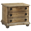 Salvaged Wood 3-Drawer Nightstand - Molding, Bun Feet - PAD-SAL21
