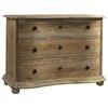 Salvaged Wood 3 Drawer Dresser Molding Bun Feet