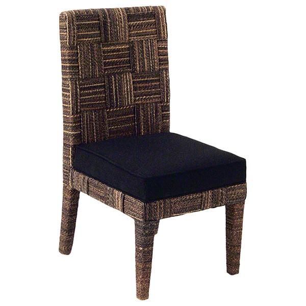 Solstice Dining Side Chair - Abaca Weave, Cushion - PAD-SOL12