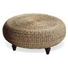 Tropical Round Ottoman Coffee Table Natural Banana Fiber Dcg