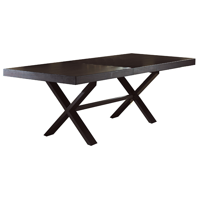 X Rectangular Dining Table - Extension Leaf, Dark Finish - PAD-X13-DK