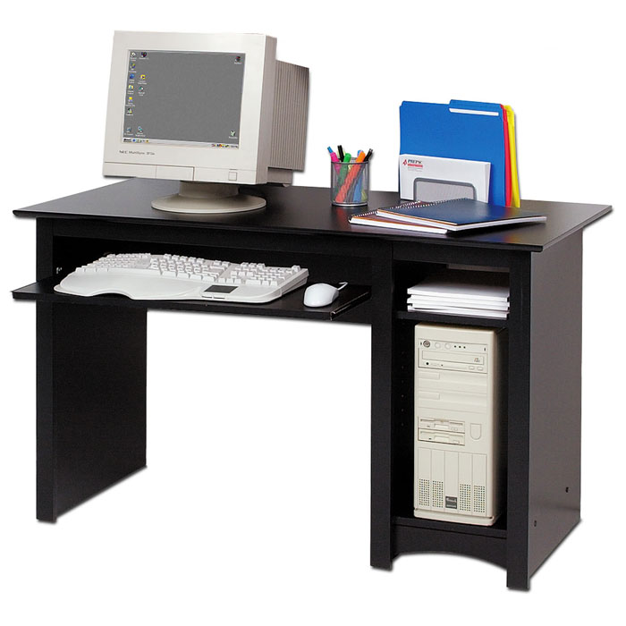 sonoma computer desk with shelf dcg stores. Black Bedroom Furniture Sets. Home Design Ideas