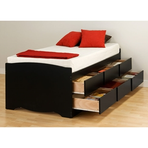 Blackbeard Twin Captains Platform Storage Bed