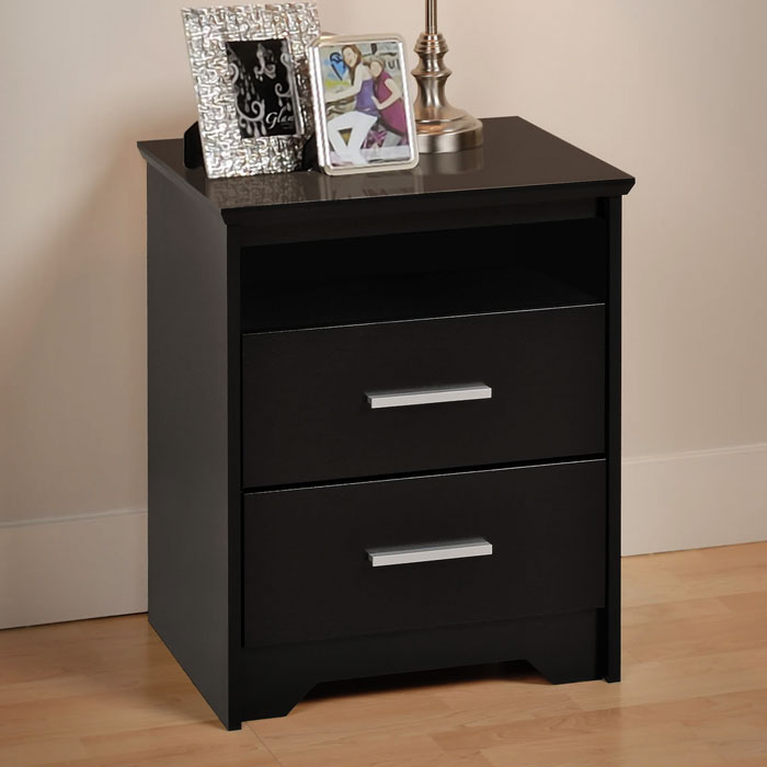 Coal Harbor Tall Nightstand with 2 Drawers