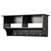 36 Inch Wide Hanging Entryway Shelf - Black - PRE-BEC-3616