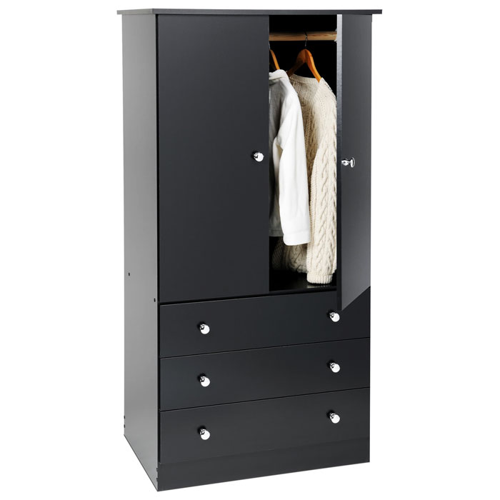 Edenvale Junior Wardrobe With 3 Drawers