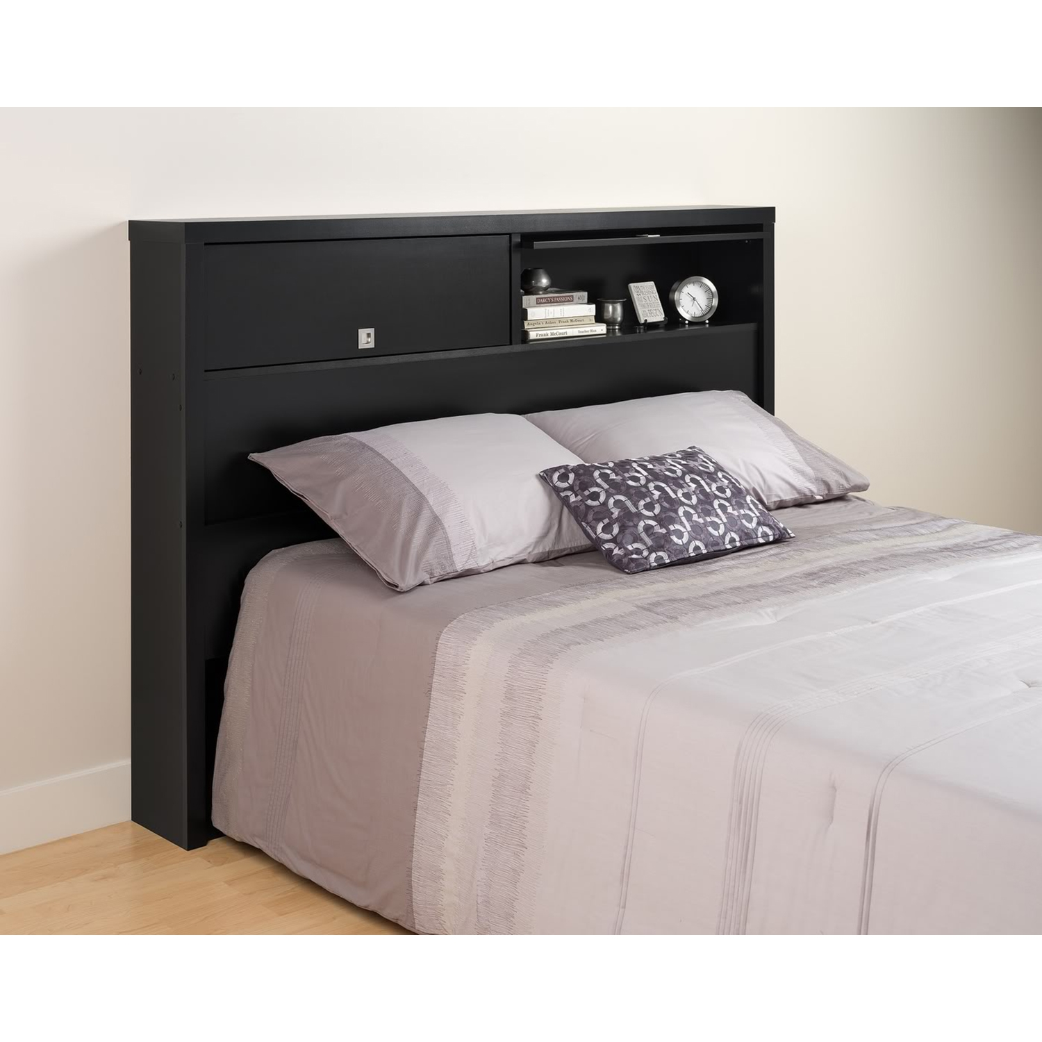 Series 9 Designer Full/Queen 2-Door Headboard - Black - PRE-BHFX-0502-1