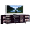 Premier Large Black TV Console with Media Storage - PRE-BPS-6000-K
