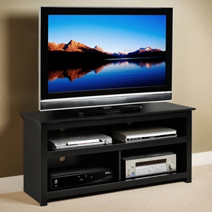 Vasari Black Flat Panel Plasma TV Console