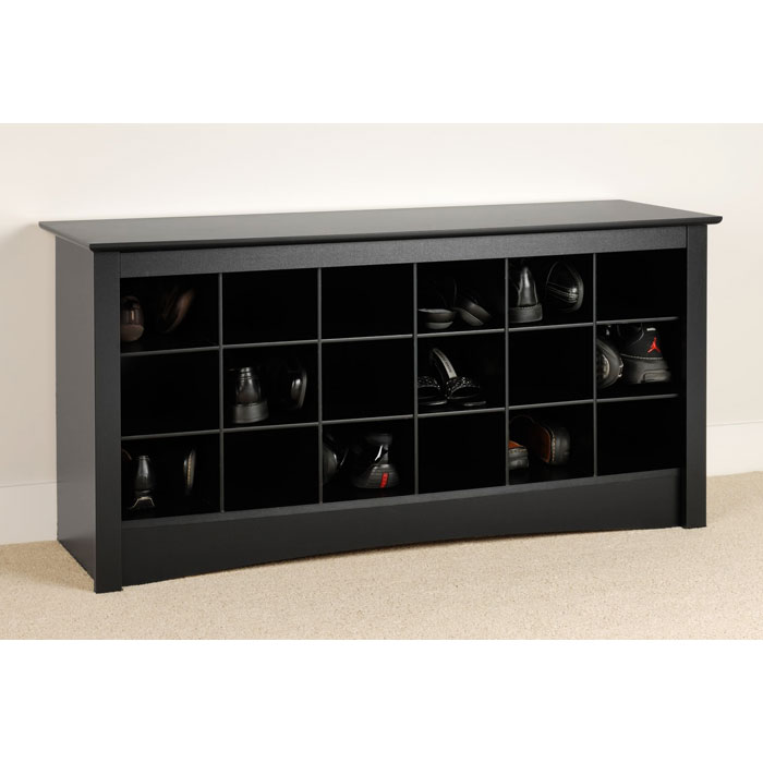 Sonoma Black Shoe Storage Cubbie Bench - PRE-BSS-4824