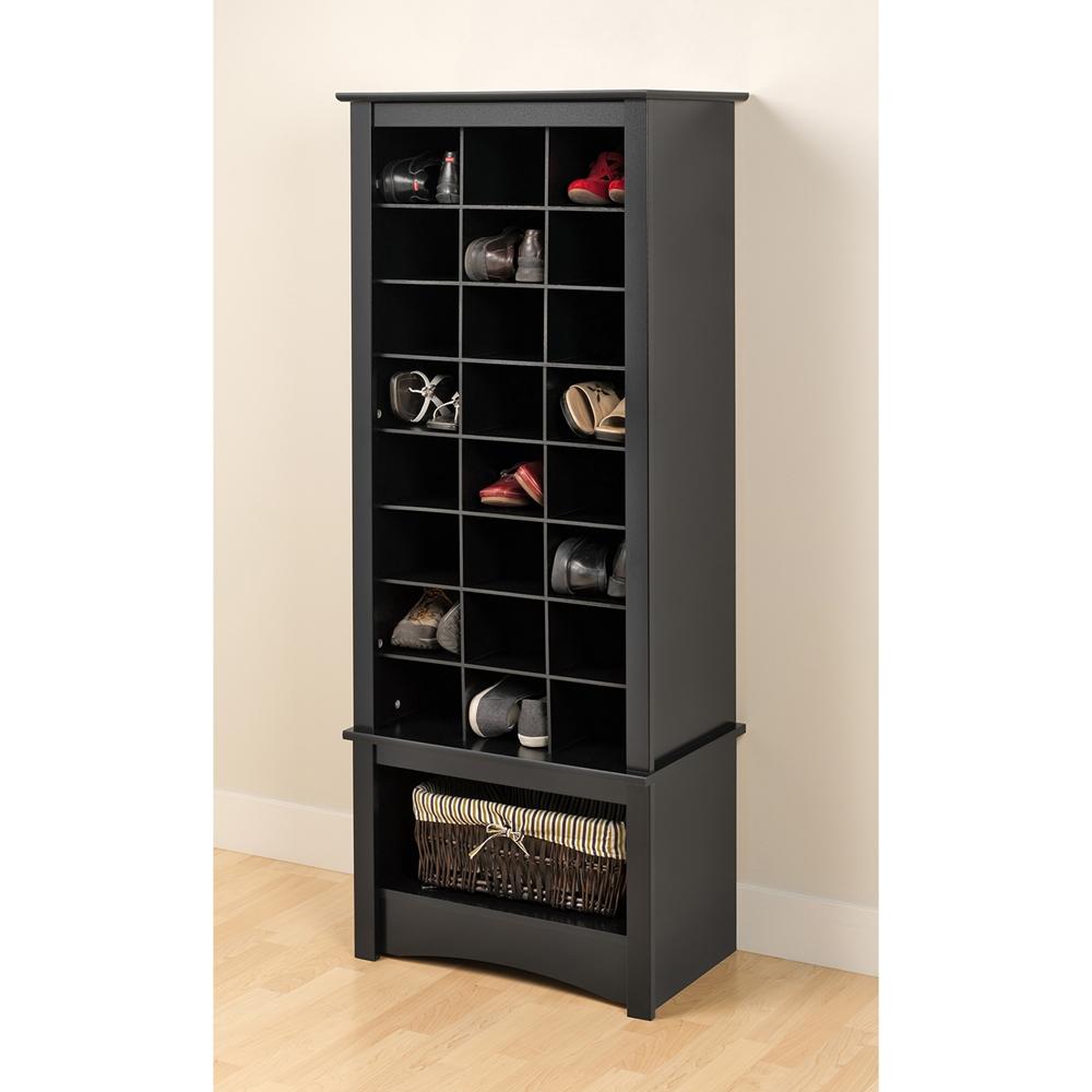Tall Shoe Cubbie Cabinet Black Dcg Stores