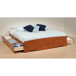 Drake King Mates Platform Storage Bed with 6 Drawers