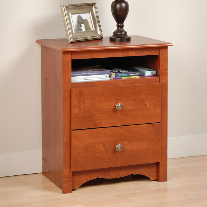 Monterey tall nightstand with open shelf dcg stores How tall is a nightstand