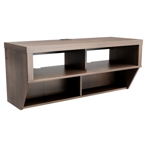 Series 9 Designer 42 Inch Wide Wall Mounted Audio Video - Espresso