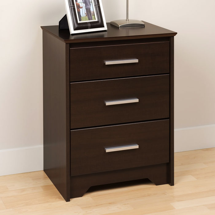 coal harbor tall nightstand with 3 drawers dcg stores