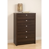 Series 9 Designer 5-Drawer Chest - Espresso - PRE-EDBR-0550-1