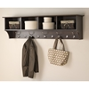 60 Inch Wide Hanging Entryway Shelf - Espresso - PRE-EEC-6016