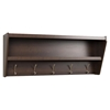 Floating Entryway Shelf and Coat Rack - Espresso - PRE-EUCW-0500-1
