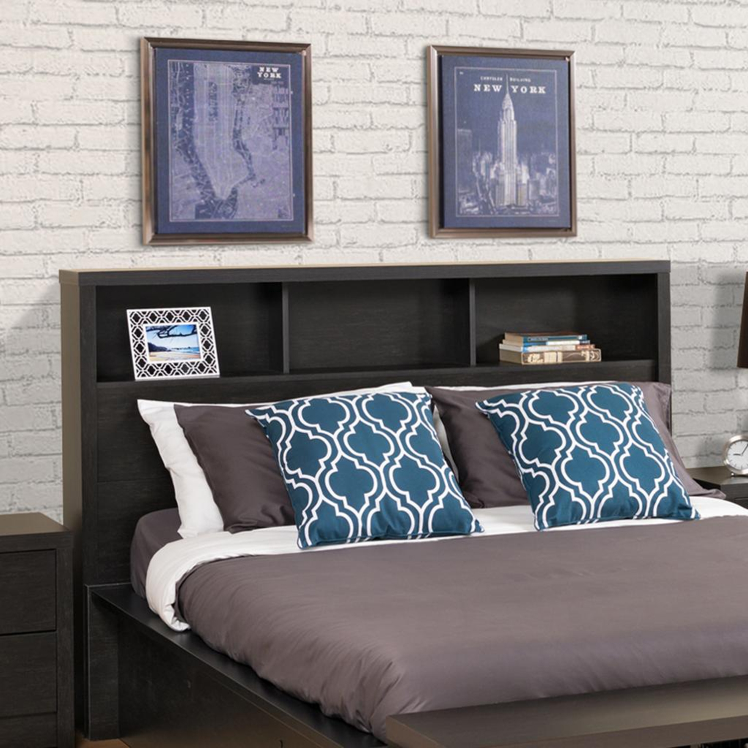 District Double/Queen Headboard - Washed Black - PRE-HHFQ-0500-1