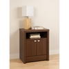 Series 9 Designer 2-Door Tall Nightstand - Warm Cherry - PRE-LDNH-0502-1