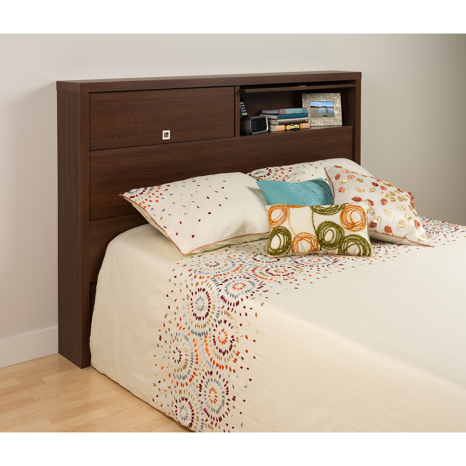 Series 9 Designer Full/Queen 2-Door Headboard - Warm Cherry - PRE-LHFX-0502-1