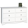 Monterey White Children's 6-Drawer Dresser - PRE-WDC-4829