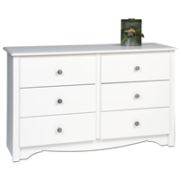 Monterey White Childrens 6-Drawer Dresser