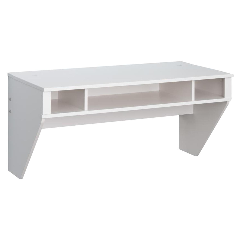 designer floating desk white dcg stores