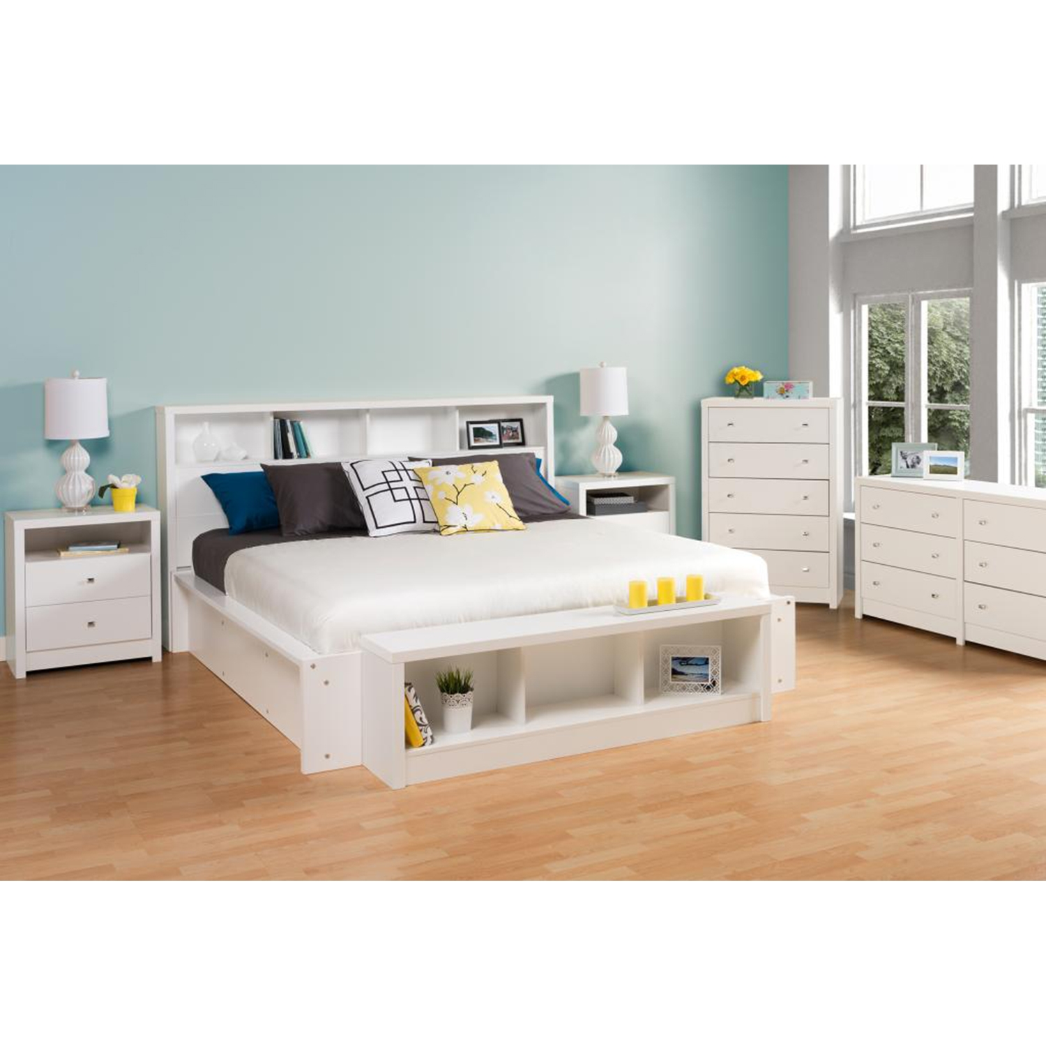 Calla King Headboard - Pure White - PRE-WHFK-0500-1