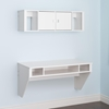 Designer Floating Desk and Hutch Set - White - PRE-WRHW-0501-2M
