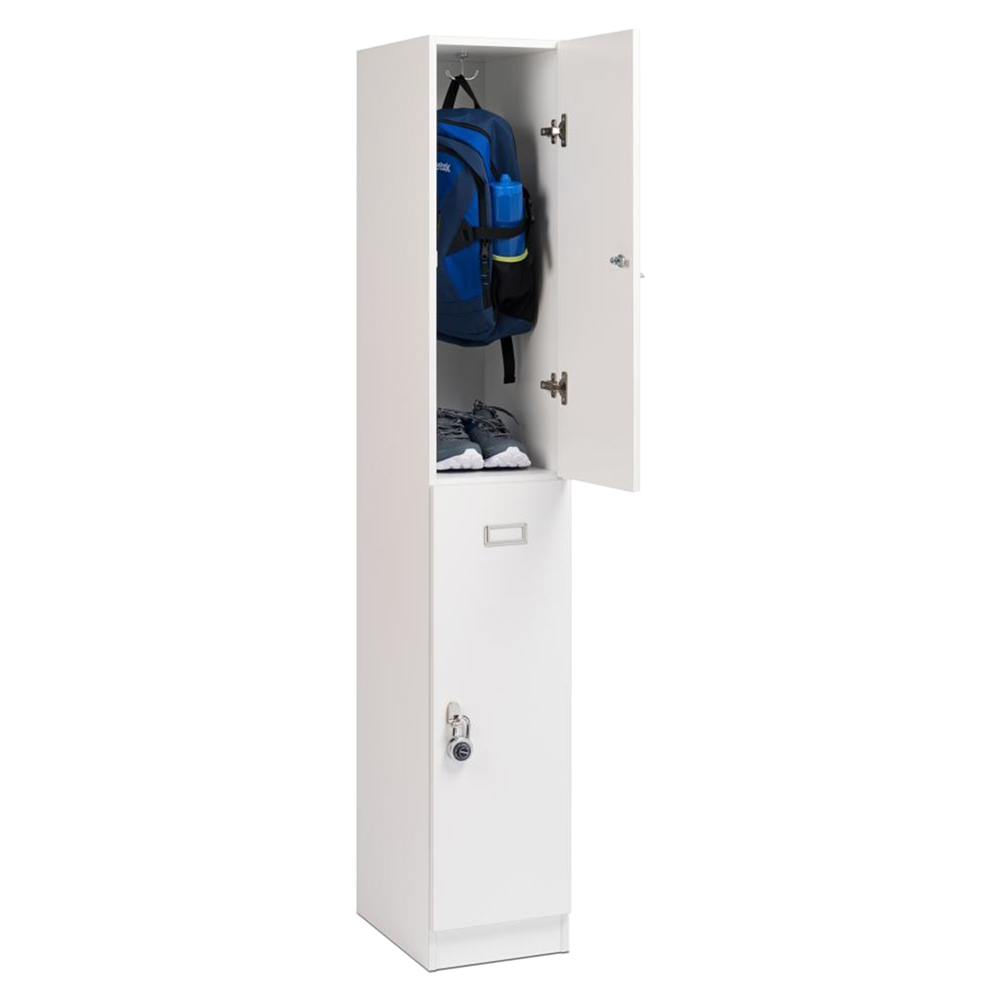 Elite Double Tier Locker White Dcg Stores