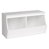 Monterey Stackable 2-Bin Storage Cubby - White - PRE-WUSD-0002-1