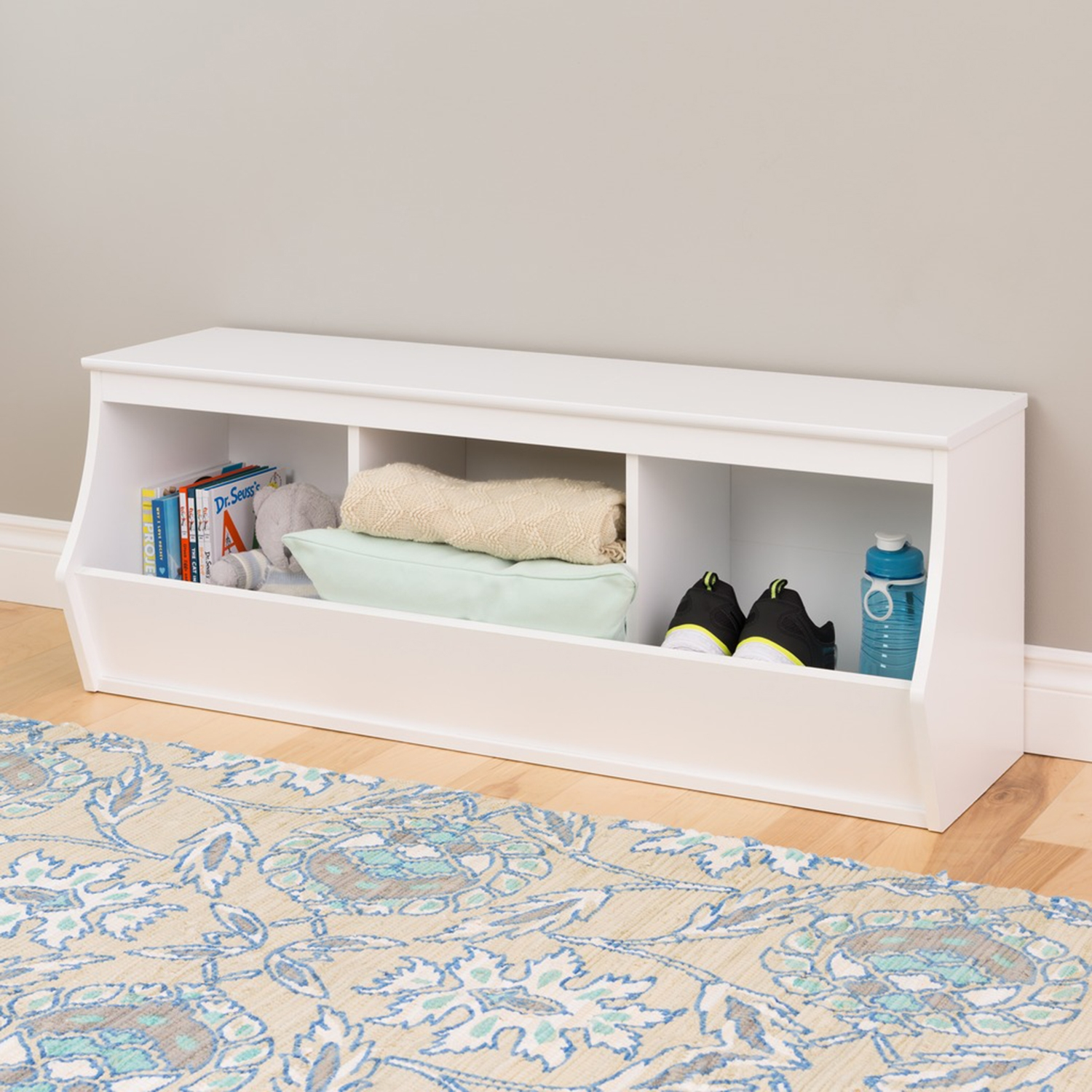 Monterey Stackable 3-Bin Storage Cubby - White - PRE-WUSM-0003-1