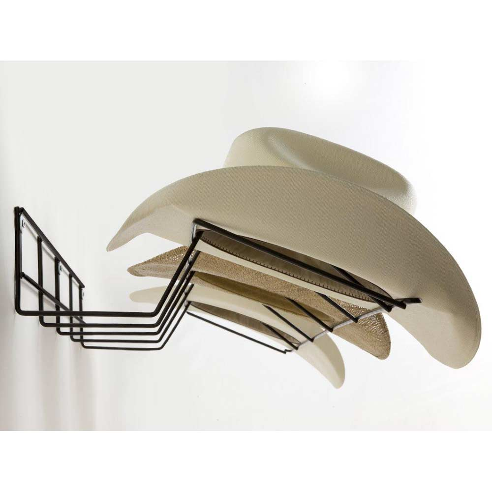 Cowboy Hat Rack Coated Wire Black Dcg Stores